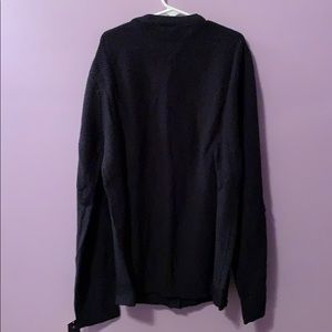 Chaps Tops - Navy blue button up sweater